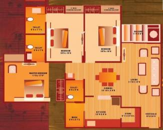 1845 sqft, 3 bhk Apartment in JP Harmony Gotri Road, Vadodara at Rs. 15000