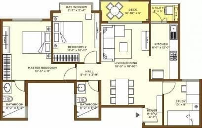 1265 sqft, 2 bhk Apartment in Bhartiya Nikoo Homes Kannur on Thanisandra Main Road, Bangalore at Rs. 24000