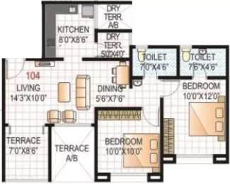 873 sqft, 2 bhk Apartment in GK Rose E Mehar Rahatani, Pune at Rs. 22000