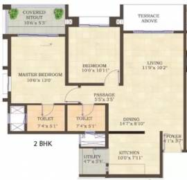 1050 sqft, 2 bhk Apartment in Mahindra Antheia Pimpri, Pune at Rs. 21000