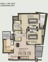 1305 sqft, 2 bhk Apartment in BPTP Princess Park Sector 86, Faridabad at Rs. 45.5000 Lacs