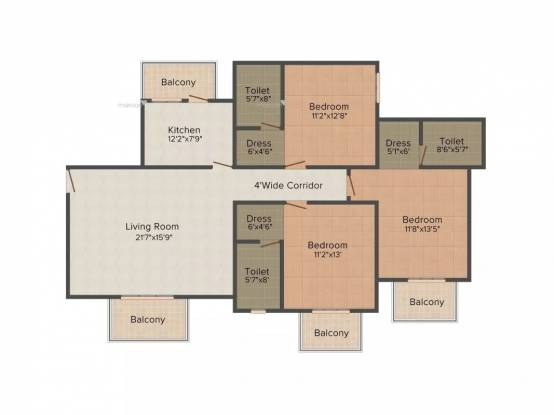 1750 sqft, 3 bhk Apartment in ATS Pristine Sector 150, Noida at Rs. 13000