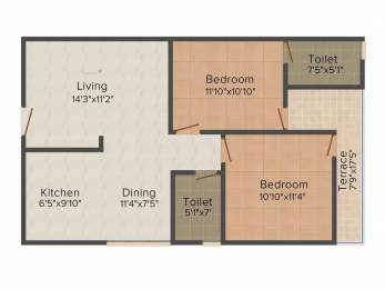 1055 sqft, 2 bhk Apartment in Saras Dolphin Enclave Uattardhona, Lucknow at Rs. 30.0000 Lacs