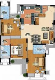 1900 sqft, 3 bhk Apartment in MI Rustle Court Gomti Nagar, Lucknow at Rs. 68.0000 Lacs