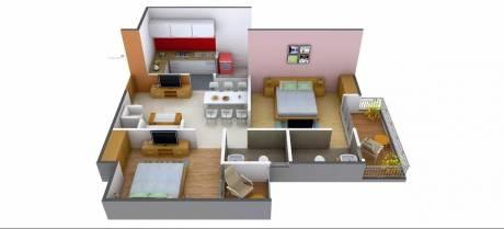 1000 sqft, 2 bhk Apartment in Antriksh Abril Green Vrindavan Yojna, Lucknow at Rs. 33.0000 Lacs