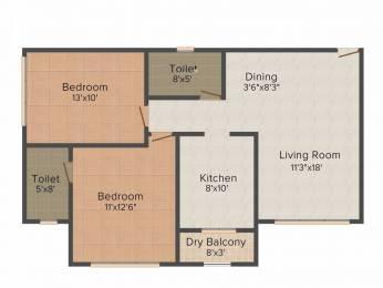 977 sqft, 2 bhk Apartment in Vora Centrico Malad West, Mumbai at Rs. 1.5000 Cr