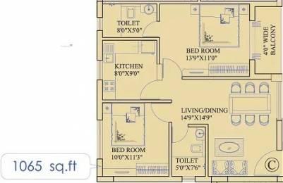1065 sqft, 2 bhk Apartment in Ruchi Active Greens Tangra, Kolkata at Rs. 70.0000 Lacs