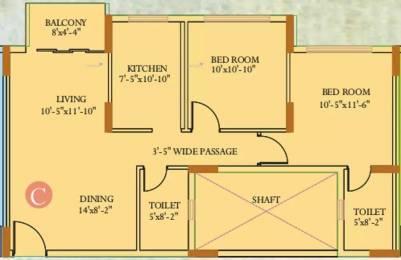 1060 sqft, 2 bhk Apartment in Ideal Ideal Regency Joka, Kolkata at Rs. 55.0000 Lacs