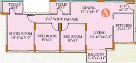 1415 sqft, 3 bhk Apartment in Ideal Ideal Regency Joka, Kolkata at Rs. 55.0000 Lacs