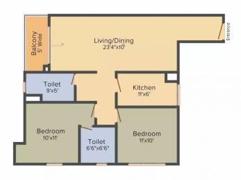 1277 sqft, 2 bhk Apartment in Mani Shankhmani Tollygunge, Kolkata at Rs. 65.0000 Lacs