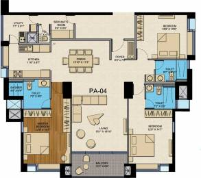 2310 sqft, 3 bhk Apartment in CNTC India The Presidential Tower Yeshwantpur, Bangalore at Rs. 3.6325 Cr