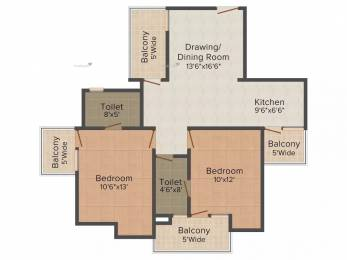 1075 sqft, 2 bhk Apartment in Supertech 34 Pavilion Sector 34, Noida at Rs. 63.0000 Lacs