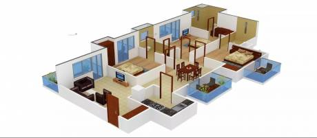 1941 sqft, 3 bhk Apartment in Swatantra Sunshine Avenue Sector 28, Faridabad at Rs. 1.1200 Cr