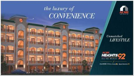 1251 sqft, 2 bhk Apartment in Builder Project Sector 92 Mohali, Mohali at Rs. 33.9500 Lacs