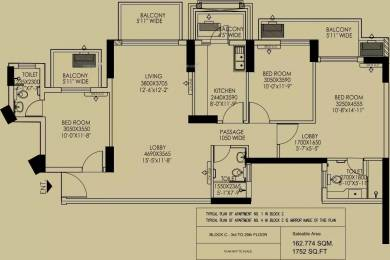 1752 sqft, 3 bhk Apartment in DLF Regal Gardens Sector 90, Gurgaon at Rs. 18000