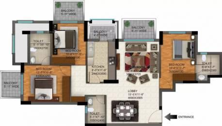 1755 sqft, 3 bhk Apartment in DLF Regal Gardens Sector 90, Gurgaon at Rs. 18000