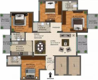 2215 sqft, 4 bhk Apartment in DLF Regal Gardens Sector 90, Gurgaon at Rs. 23000