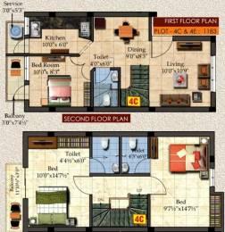 1183 sqft, 3 bhk Villa in Rajus Citadel Ambattur, Chennai at Rs. 55.6010 Lacs