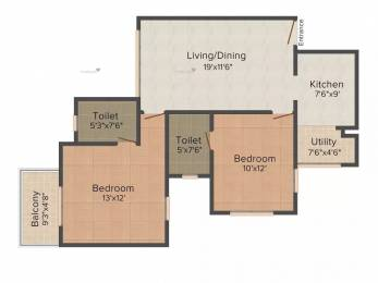 953 sqft, 2 bhk Apartment in Ozone Evergreens Harlur, Bangalore at Rs. 85.0000 Lacs
