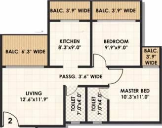 1041 sqft, 2 bhk Apartment in Karrm Gardens Ambernath West, Mumbai at Rs. 5000