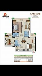 1595 sqft, 3 bhk Apartment in Supertech Capeluxe Sector 74, Noida at Rs. 90.1175 Lacs