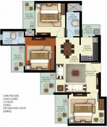 1240 sqft, 3 bhk Apartment in Mahagun Marvella Sector 16C Noida Extension, Greater Noida at Rs. 46.8100 Lacs
