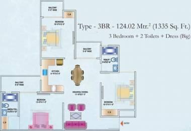 1335 sqft, 3 bhk Apartment in Nirala Estate II Techzone 4, Greater Noida at Rs. 43.0500 Lacs