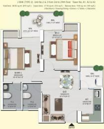 870 sqft, 2 bhk Apartment in Shri Shri Radha Sky Park Sector 16B Noida Extension, Greater Noida at Rs. 32.5200 Lacs