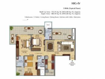 1425 sqft, 2 bhk Apartment in Mahagun Mahagun Meadows Sector 150, Noida at Rs. 1.6000 Cr