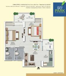 599 sqft, 1 bhk Apartment in Shri Shri Radha Sky Park Sector 16B Noida Extension, Greater Noida at Rs. 32.5200 Lacs