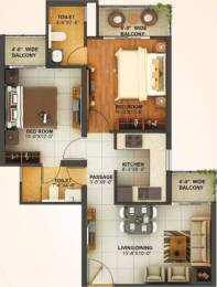 900 sqft, 2 bhk Apartment in Mahagun Montage Crossing Republik, Ghaziabad at Rs. 28.7100 Lacs