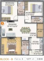 1277 sqft, 3 bhk Apartment in Gayatri Vaishnaoi Eternis Metagalli, Mysore at Rs. 54.9110 Lacs