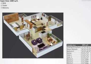 1089 sqft, 2 bhk Apartment in Star Realcon Group Rameshwaram Raj Nagar Extension, Ghaziabad at Rs. 30.3800 Lacs