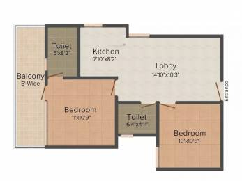 767 sqft, 2 bhk Apartment in Shree Green Court Sector 90, Gurgaon at Rs. 24.1043 Lacs