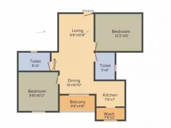 937 sqft, 2 bhk Apartment in Radiance Empire Perambur, Chennai at Rs. 60.9050 Lacs