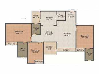 1978 sqft, 3 bhk Apartment in Alembic Shangri La Gorwa, Vadodara at Rs. 86.0000 Lacs