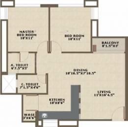 1030 sqft, 2 bhk Apartment in RED Baroda Skyz Gorwa, Vadodara at Rs. 24.0000 Lacs