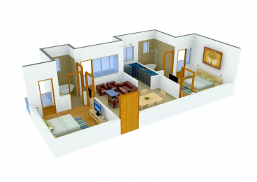 976 sqft, 2 bhk Apartment in LandCraft River Heights Raj Nagar Extension, Ghaziabad at Rs. 28.5000 Lacs