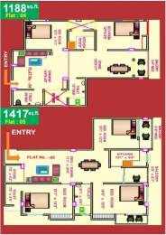 1188 sqft, 2 bhk Apartment in Star India Construction Shiv Bhajju Complex Anisabad, Patna at Rs. 45.1400 Lacs