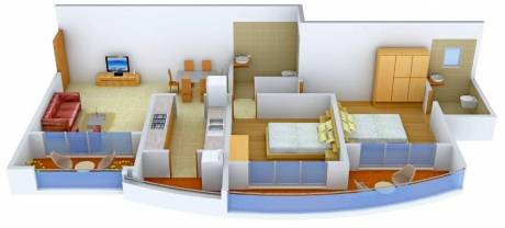 1260 sqft, 2 bhk Apartment in RNA Royale Park Kandivali West, Mumbai at Rs. 42000