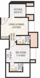 630 sqft, 1 bhk Apartment in Hiranandani The Walk Thane West, Mumbai at Rs. 22000