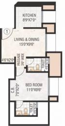 630 sqft, 1 bhk Apartment in Hiranandani The Walk Thane West, Mumbai at Rs. 22000