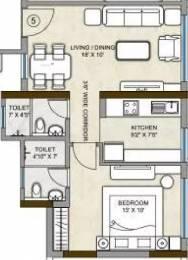 784 sqft, 1 bhk Apartment in Kalpataru Hills Thane West, Mumbai at Rs. 85.0000 Lacs
