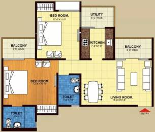 955 sqft, 2 bhk Apartment in Trident Embassy Sector 1 Noida Extension, Greater Noida at Rs. 5500