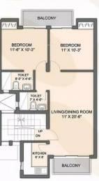 900 sqft, 2 bhk Apartment in Ireo Oyster Floor Gurdev Nagar, Ludhiana at Rs. 10000