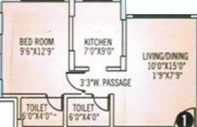 615 sqft, 1 bhk Apartment in Veena Santoor Borivali West, Mumbai at Rs. 27000
