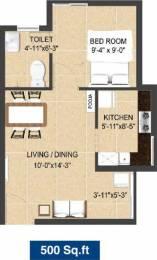 500 sqft, 1 bhk Apartment in Arun Excello Jalmika Oragadam, Chennai at Rs. 17.0000 Lacs