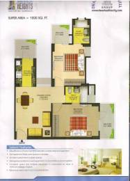 1200 sqft, 2 bhk Apartment in The Antriksh Heights Sector 84, Gurgaon at Rs. 52.0000 Lacs