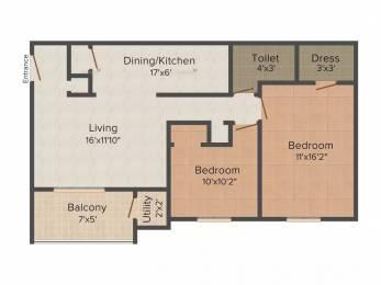 849 sqft, 2 bhk Apartment in Rama Krystal City Moshi, Pune at Rs. 10000