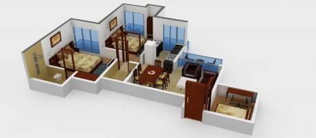 1135 sqft, 2 bhk Apartment in Prateek Laurel Sector 120, Noida at Rs. 13000